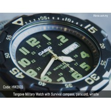 Tangove Military watch with survival compass + paracord + whistle (HW2922)
