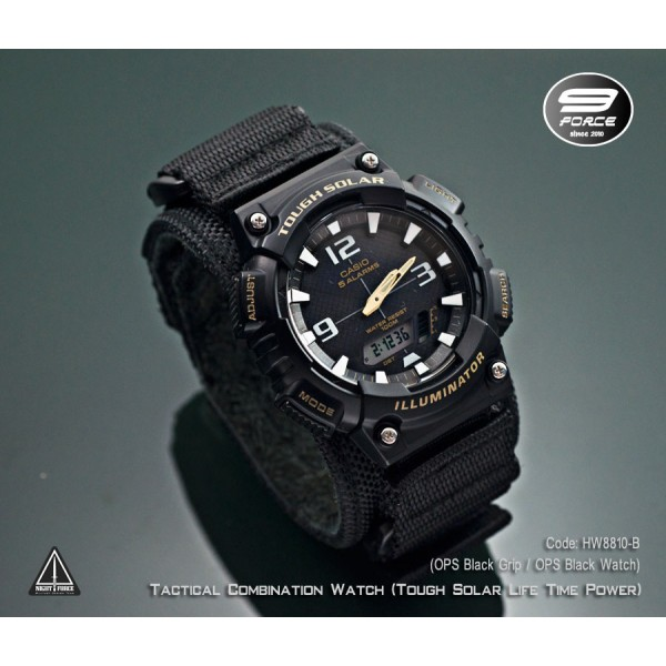 Tactical combination watch (Casio Tough Solar Power ...