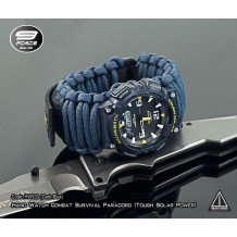 Hand Watch Combat Survival Paracord (Tough Solar Power) (Code: HW930-Dark Blue)