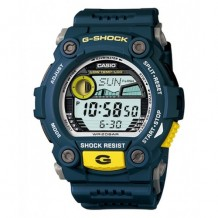 Casio Men's G-Shock Blue Resin Digital Dial Watch
