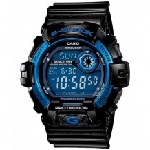 Casio Men's Sport Black Resin Quartz Watch with Blue Dial