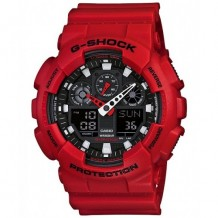 Casio G-Shock X-Large Red World Time Analog digital Watch