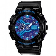 Casio G-Shock Black G-Shock Analog Digital Anti-Magnetic Blue Pur