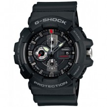 Casio Men's G-Shock Black Resin Analog Chronograph Watch