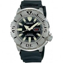 "Seiko Men's ""Black Monster"" Automatic Dive Watch"