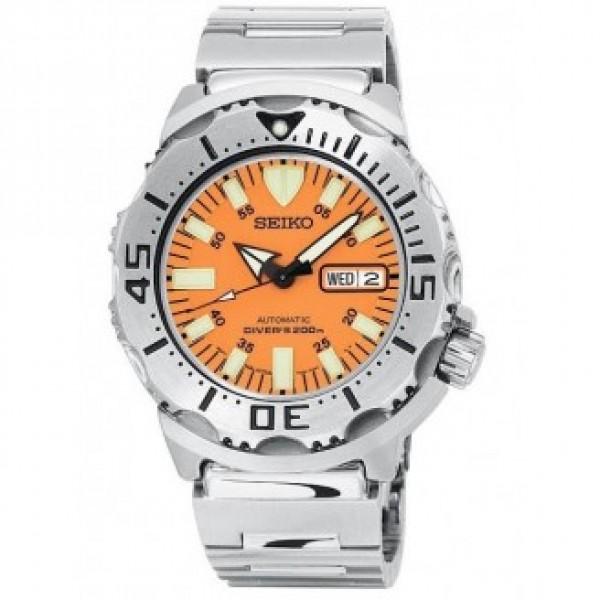 Seiko men 39 s orange monster automatic dive watch - Orange dive watch ...