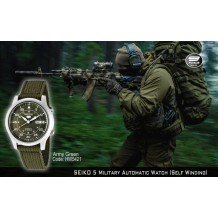 SEIKO 5 Military Automatic Watch OD Green (Self Winding)