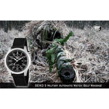 SEIKO 5 Military Watch Automatic OPS Black (Self Winding)