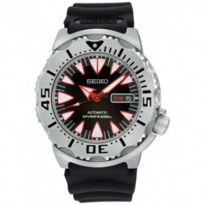 Seiko Divers Automatic Black Dial Stainless Steel Mens Watch