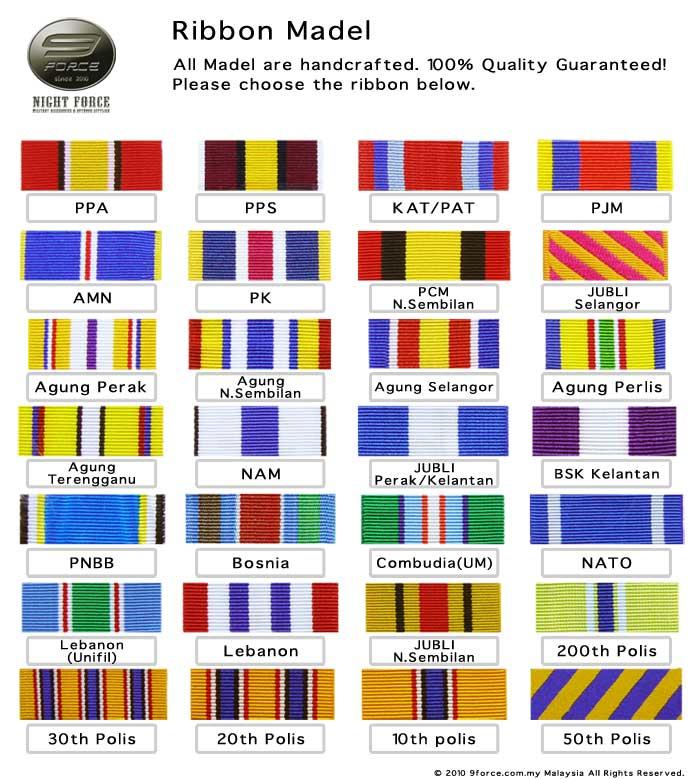 Ribbon Medal Column 1
